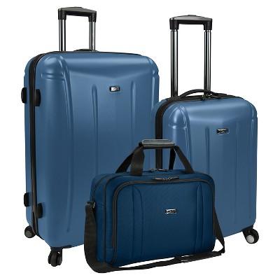 U.S. Traveler 3pc Luggage Set - Blue
