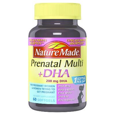 Nature Made Prenatal Multivitamin & DHA Softgels - 60ct