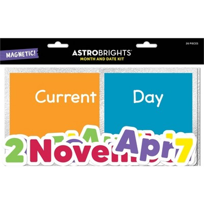 26pc Magnetic Month and Date Kit - Astrobrights