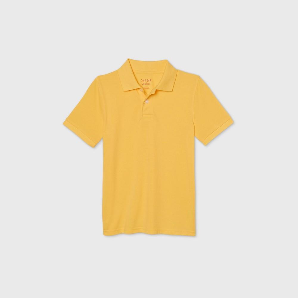 Boys 39 Short Sleeve Stretch Pique Uniform Polo Shirt Cat 38 Jack 8482 Yellow M