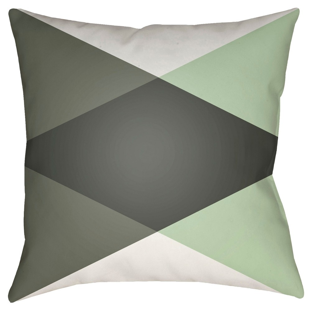 Black Intersecting Triangles Throw Pillow 18