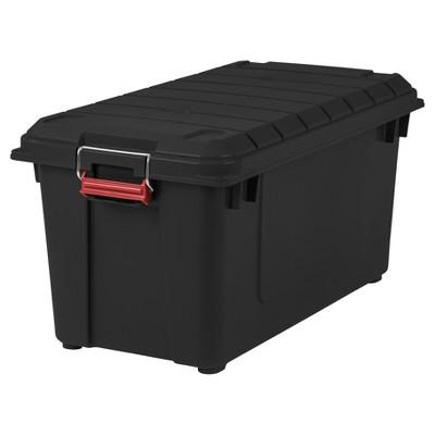 Attrayant IRIS 82qt Heavy Duty Plastic Storage Bin   4pk : Target