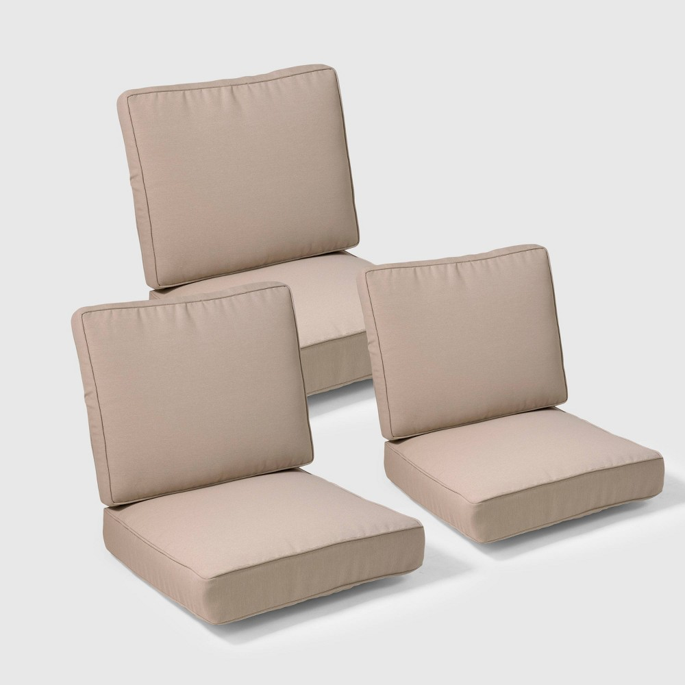 Belvedere 6pc Replacement Outdoor Sofa Cushion Set - Tan - Threshold