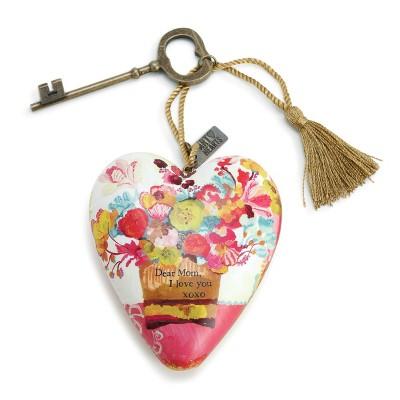 DEMDACO Dear Mom Art Heart 4 x 3 - Pink
