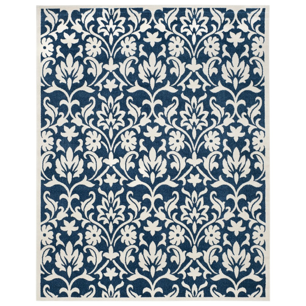 Chartres 9' x 12' Outdoor Rug Navy/Ivory - Safavieh, White Blue