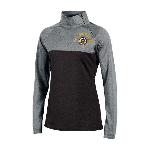 Boston Bruins Women s Quarter Zip Pullover - Gray M   Target 695ae0f65