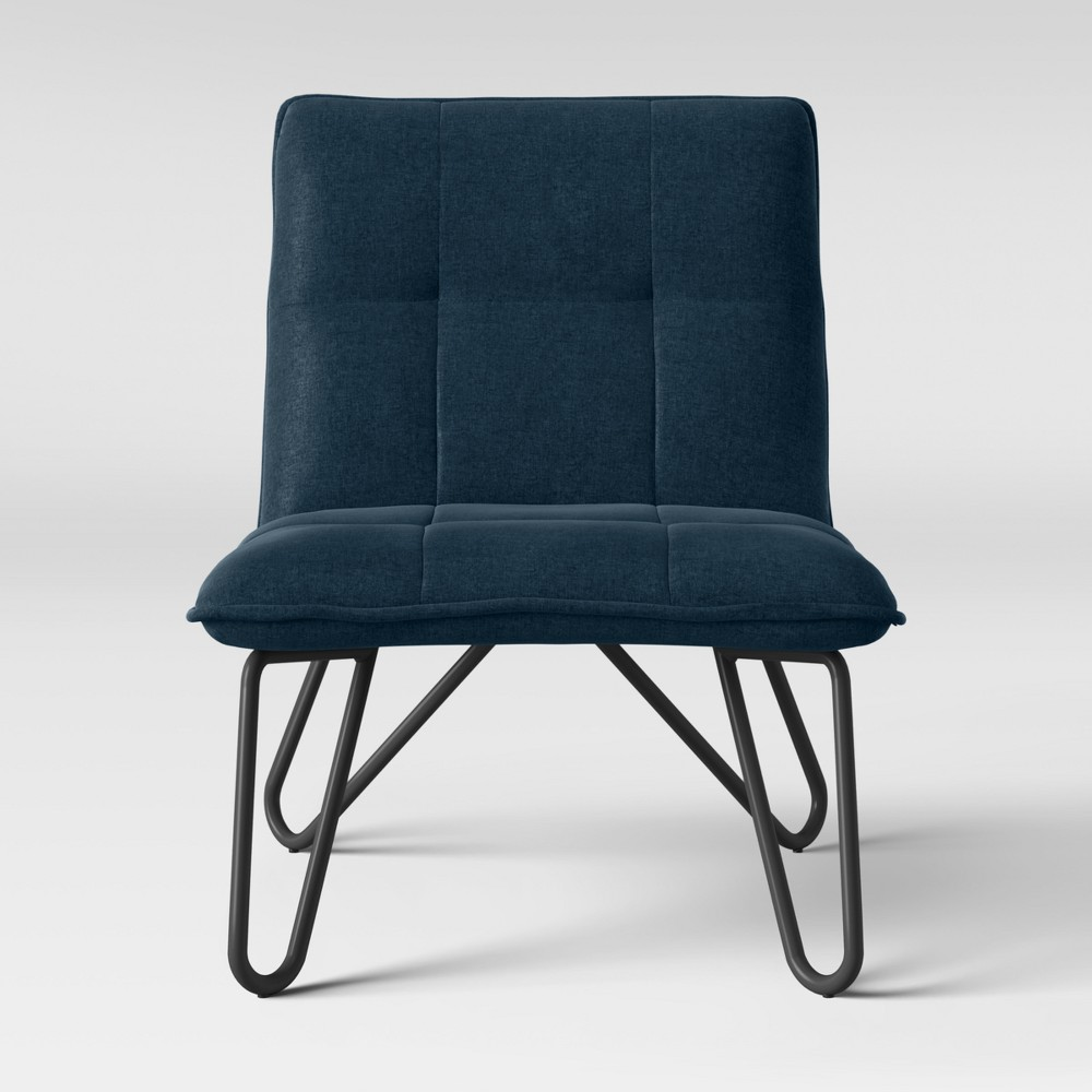 Plenrith Hairpin Base Slipper Chair Blue - Project 62