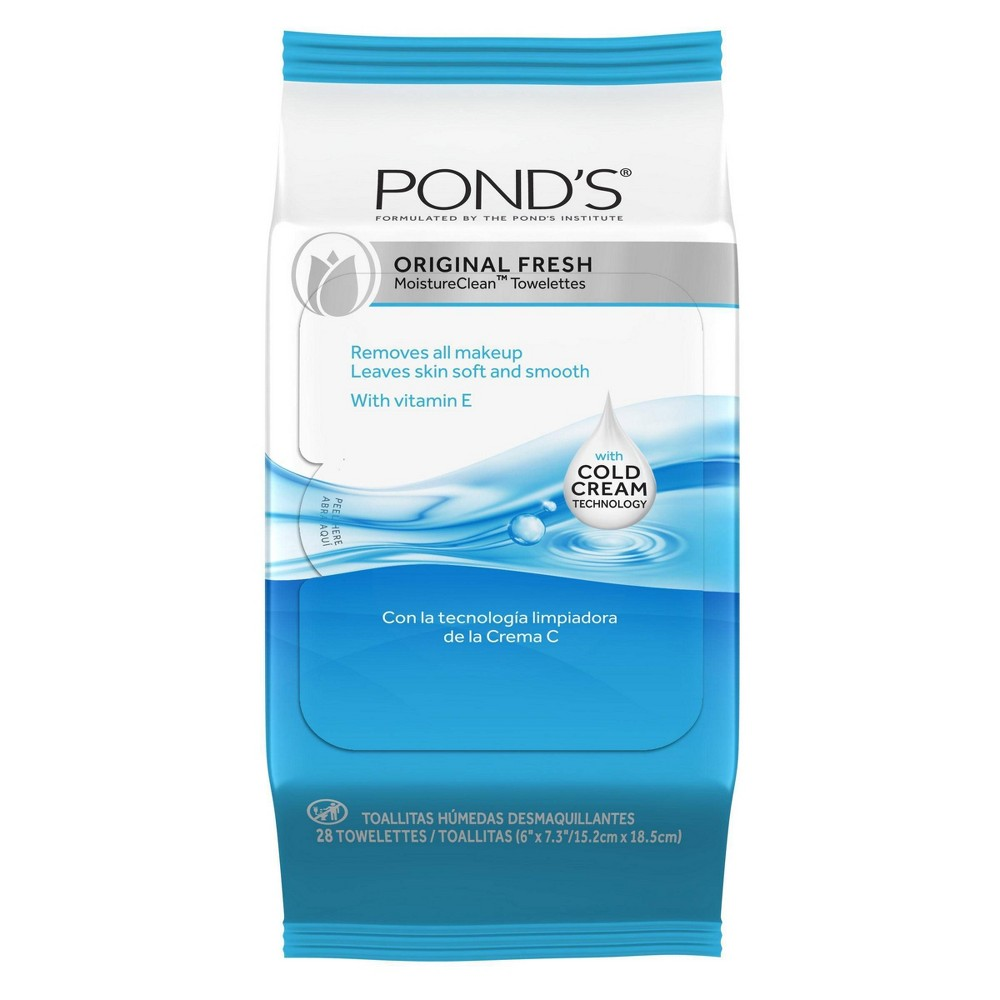 Image of Pond's Wet Cleansing Towelettes Original Fresh - 28ct