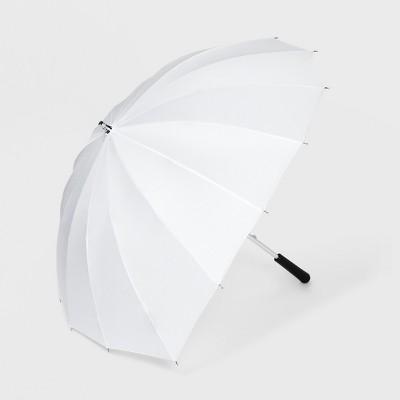 ShedRain Heart Shaped Stick Umbrella - White