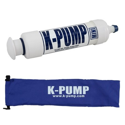 K-Pump Mini Compact Portable Inflatable Kayak Raft Boat Water Sport Hand Air Inflation Pump with Storage Bag