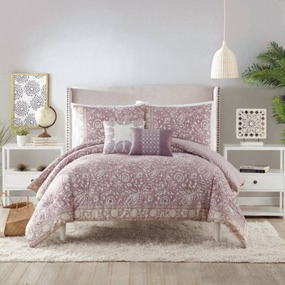 Indigo Bazaar 5pc Socorro Comforter & Sham Set Purple