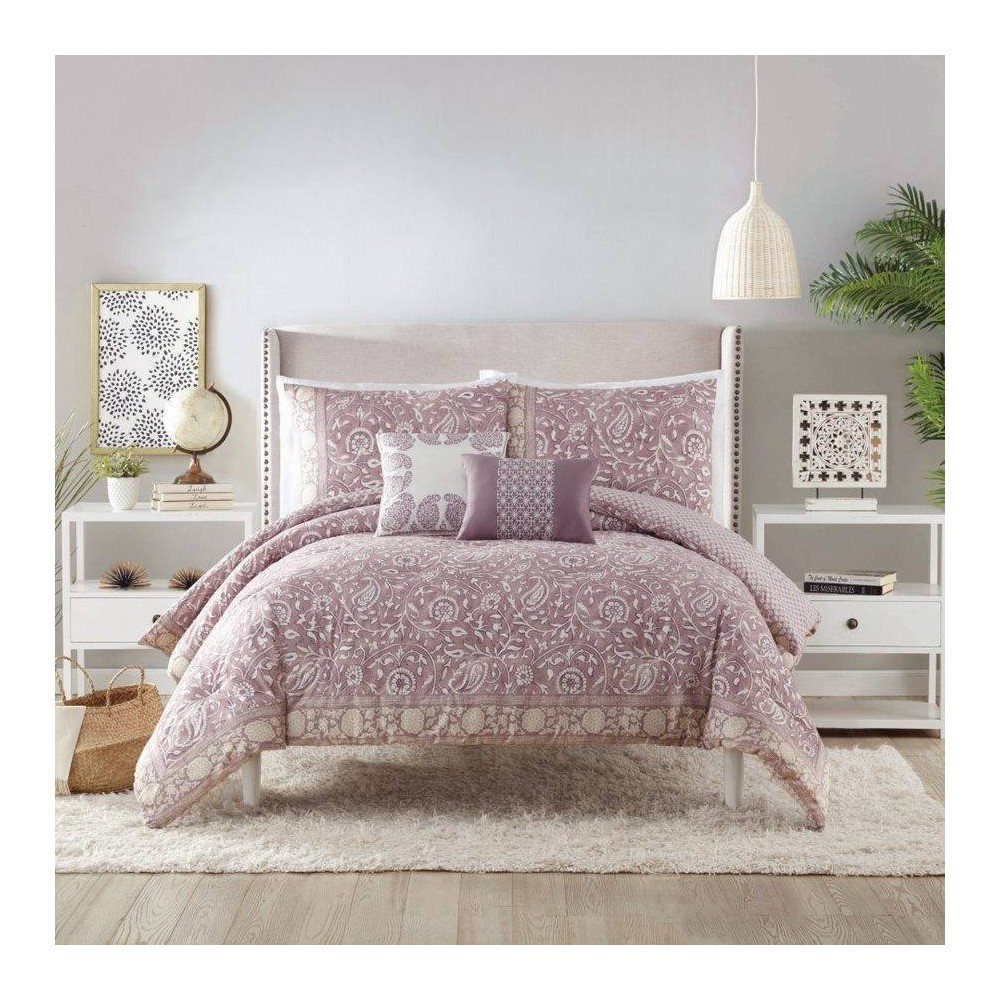 Image of Indigo Bazaar King 5pc Socorro Comforter & Sham Set Purple