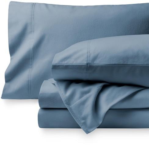 Bare Home Cotton Flannel Sheet Set Queen Coronet Blue Target
