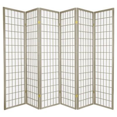 6 ft. Tall Window Pane 6 Panels - Oriental Furniture