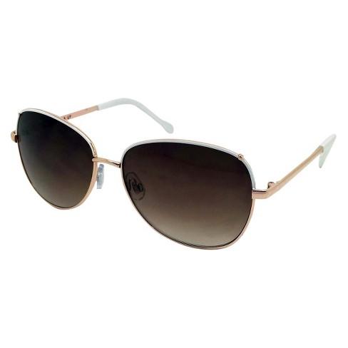 Women s Round Sunglasses - White   Target 74eebb21c