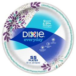 "Dixie Everyday 8.5"" Dinner Paper Plates - 55ct"
