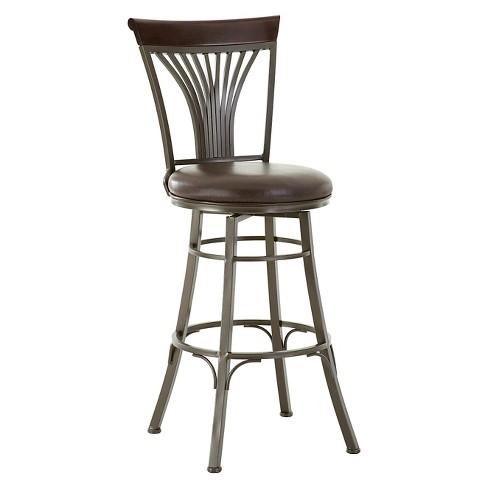 Karol 30 Swivel Bar Chair Metal Steve Silver Target