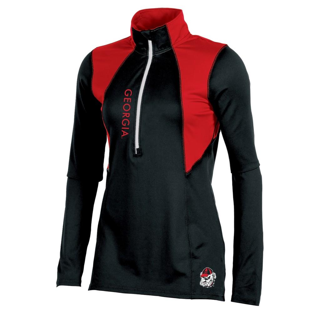 Georgia Bulldogs Women's Long Sleeve 1/2 Zip Performance Sweatshirt - XL, Multicolored