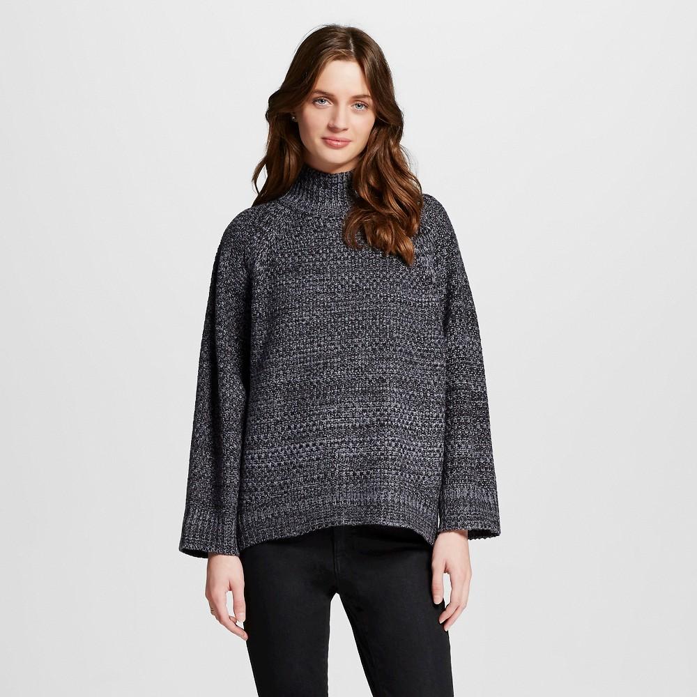 Image of Women's Dolman Sleeve Mockneck Pullover Sweater Coal (Grey) Combo L - 262.5