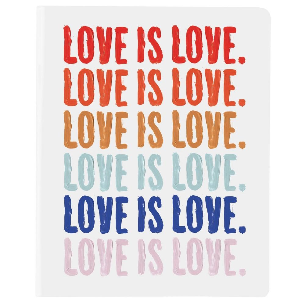 Lined Journal 8 34 X6 34 Undated Vinyl Painterly Bright Love Is Love Graphique De France