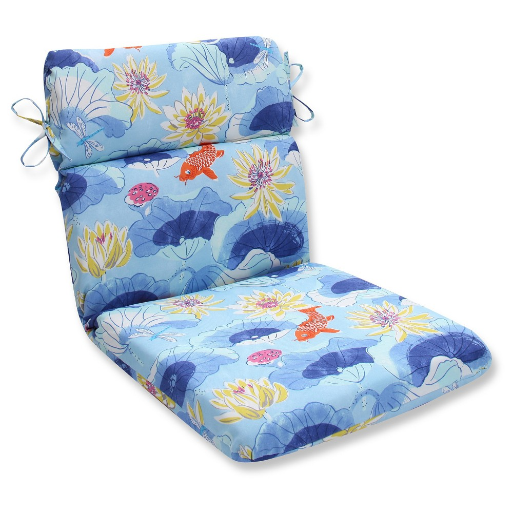 Pillow Perfect Outdoor One Piece Seat And Back Cushion - Blue