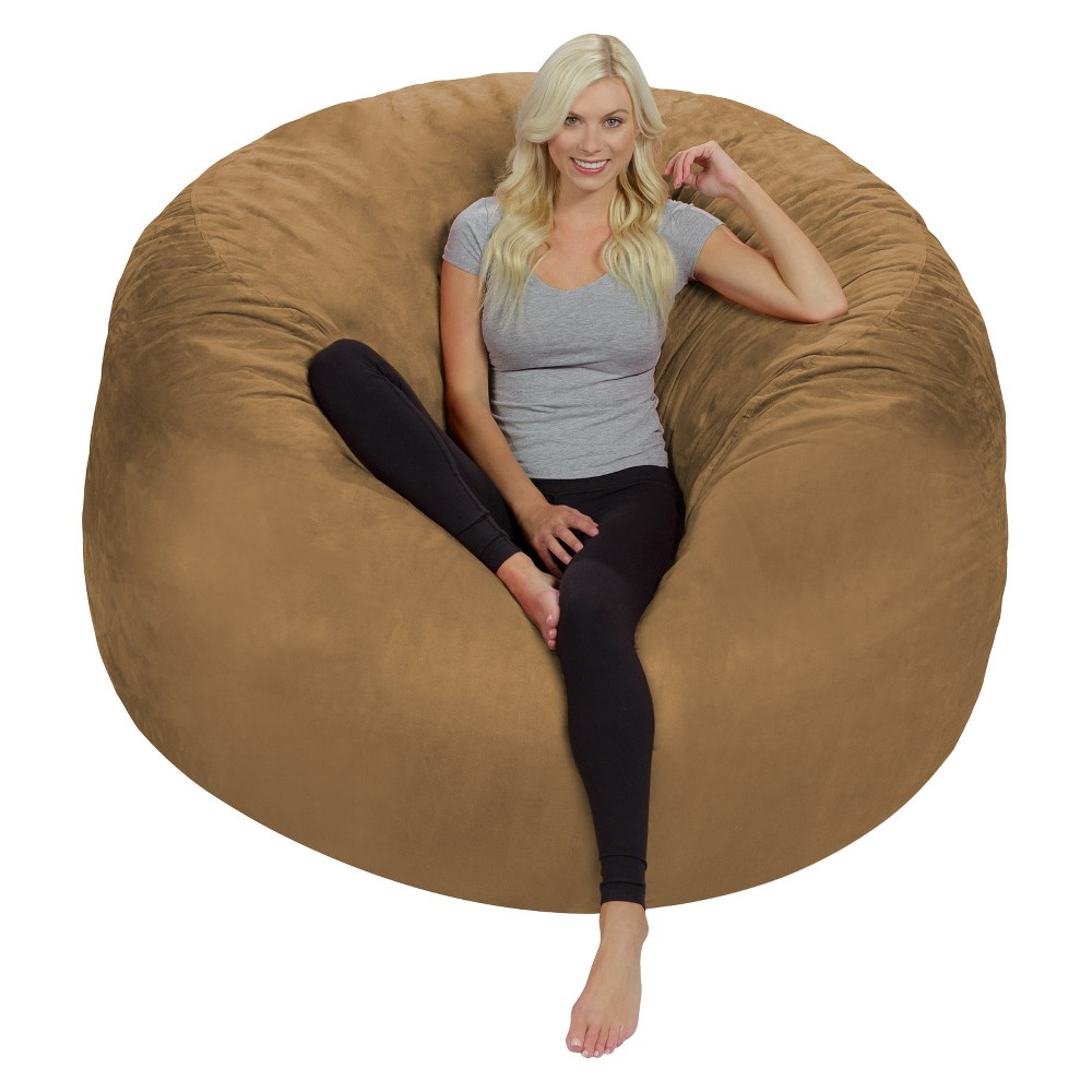 Image of 6ft Microsuede Lounger Earth - Relax Sacks
