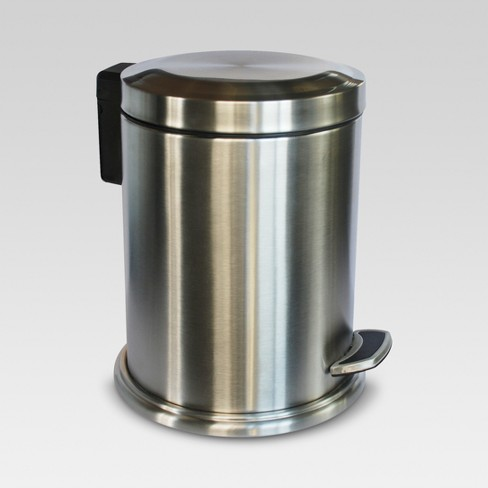Stepcan Wastebasket Brushed Nickel - Threshold™ - image 1 of 1