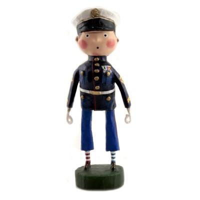 """Lori Mitchell 6.25"""" Lil' Marine Soldier Dress Blues Patriotic  -  Decorative Figurines"""