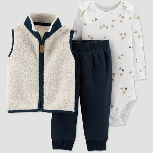 b2845788 Baby Boys' 3pc Sherpa Vest Set - Just One You® : Target