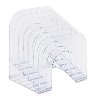 Rubbermaid Six-Tier Jumbo Incline Sorter Plastic 9 3/8 x 10 1/2 x 7 3/8 Clear 96600ROS