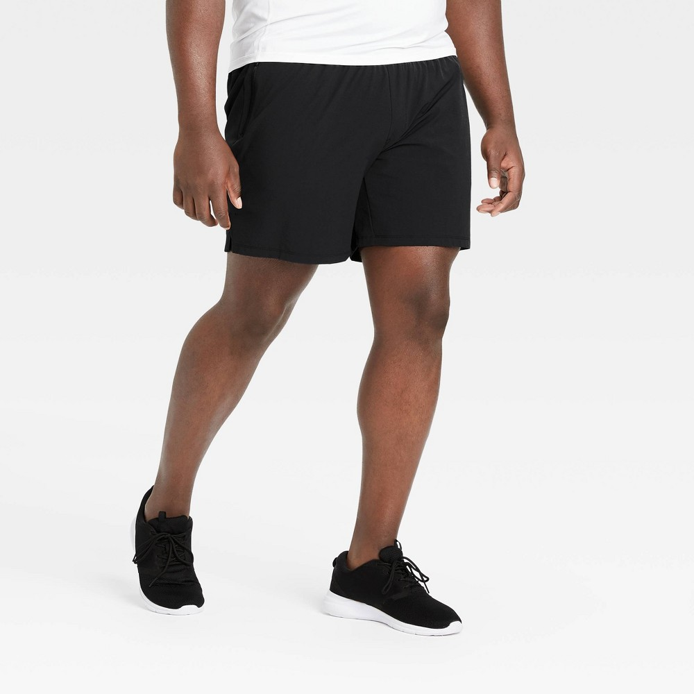Men 39 S Stretch Woven Shorts All In Motion 8482 Black Xl