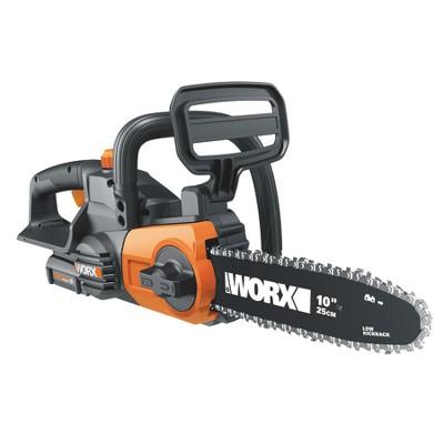 "Worx WG322.9 10"" Cordless Chain Saw, 20V Li-Ion, Auto-Tension, Auto-Oiling"