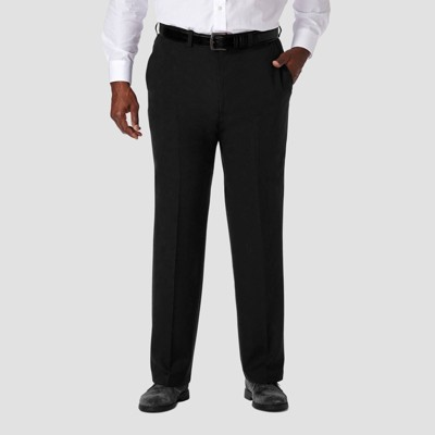 Haggar Men's Big & Tall Cool 18 PRO Classic Fit Flat Front Casual Pants