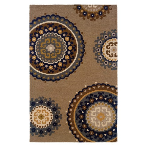 "Medallion Accent Rug - Tan/Light Blue (3'6""x5'6"") - image 1 of 1"