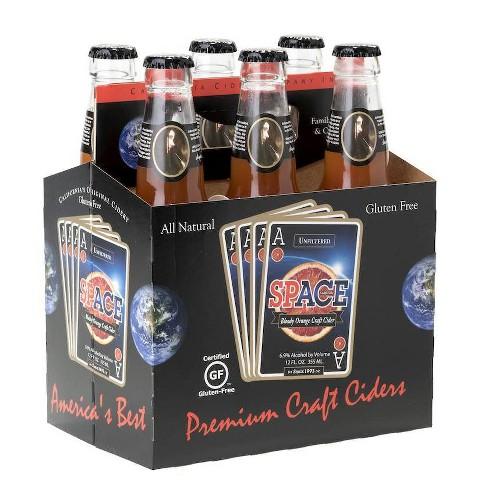 ACE Space Blood Orange Hard Cider - 6pk/12 fl oz Bottles - image 1 of 1
