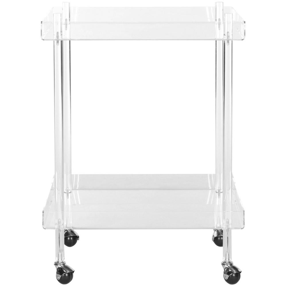 Elle Bar Cart Acrylic/Clear - Safavieh Discounts