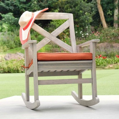 Westlake Wood Porch Rocking Chair with Cushion - Cambridge Casual
