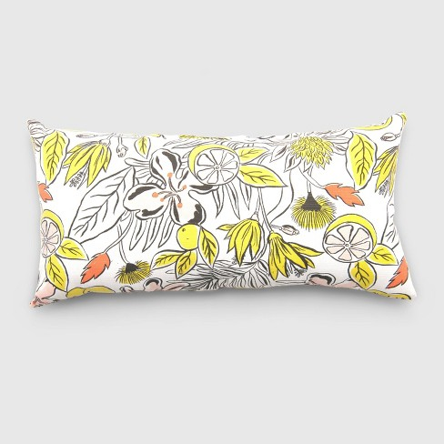 Oversize Lumbar Party Floral Outdoor Pillow - Opalhouse™ - image 1 of 1