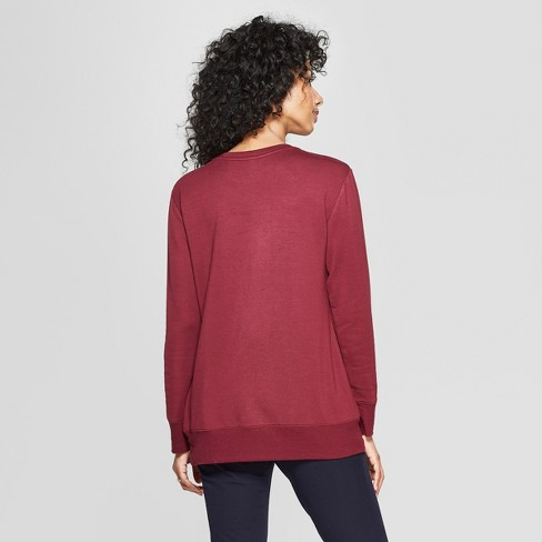 27ca6f036b9 Women s Long Sleeve Cross-Front Pullover - A New Day™   Target