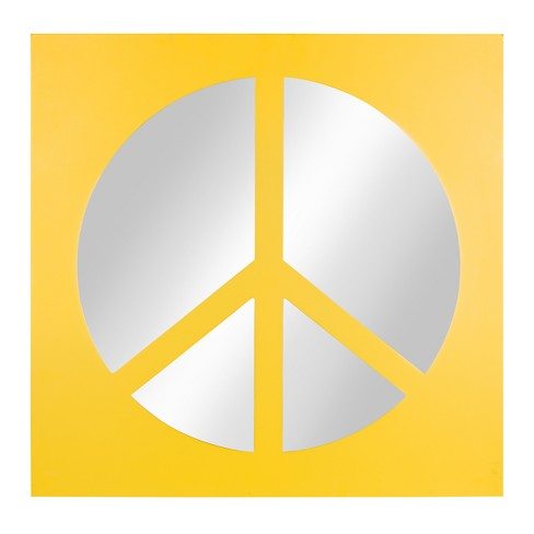 Peace Icon Mirror 22x22 - Kate & Laurel - image 1 of 4