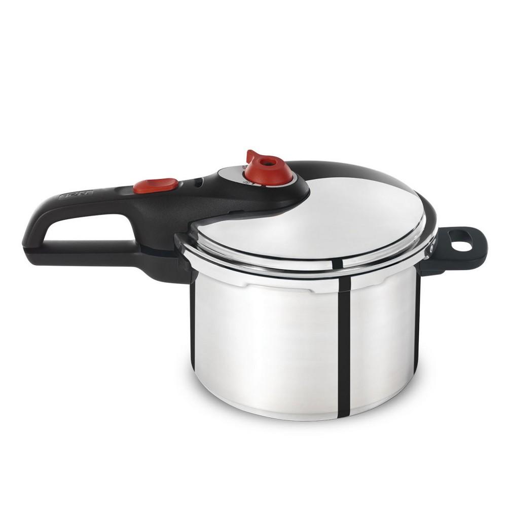 T-fal 6qt Aluminum Pressure Cooker, Silver
