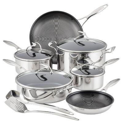 Circulon SteelShield C-Series 10pc Clad Tri-Ply Nonstick Cookware Plus Bonus Utensil Set
