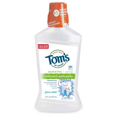 Mouthwash: Tom's of Maine Children's Anticavity