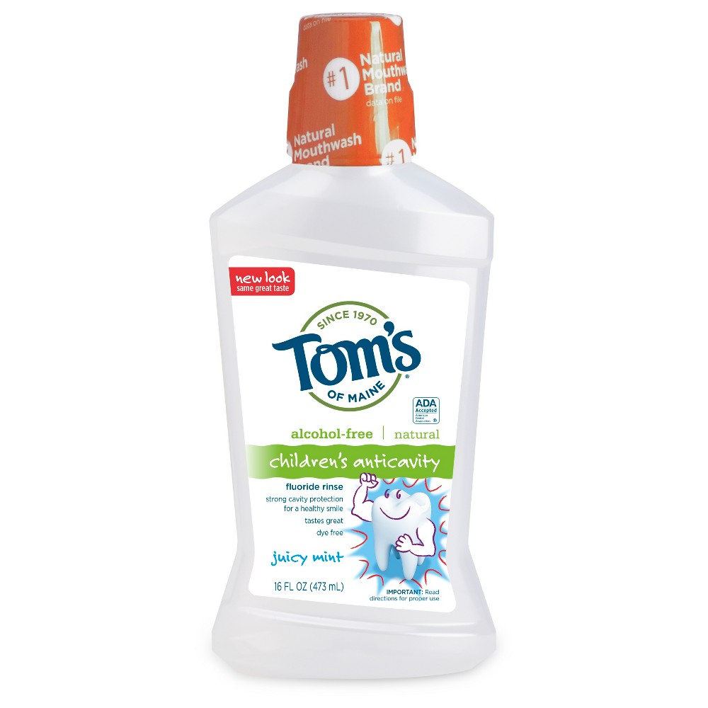 Tom's of Maine Juicy Mint Natural Kid's Alcohol-Free MouthWash - 16 fl oz