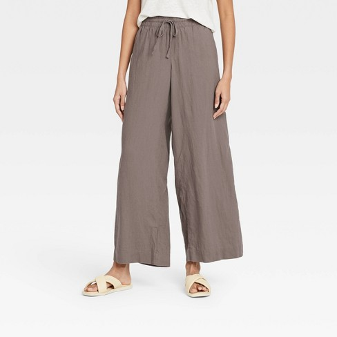Women's Mid-Rise Wide Leg Pants - A New Day™ - image 1 of 3