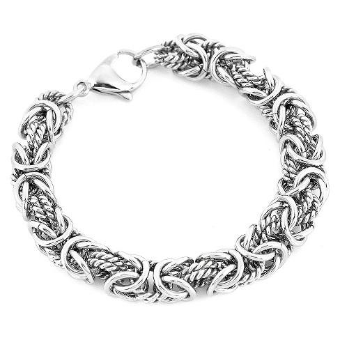 Stainless Steel Byzantine Bracelet