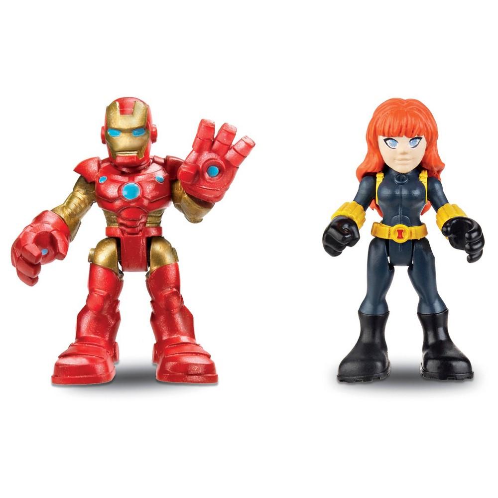 Playskool Heroes Marvel Super Hero Adventures Iron Man and Marvel's Black Widow