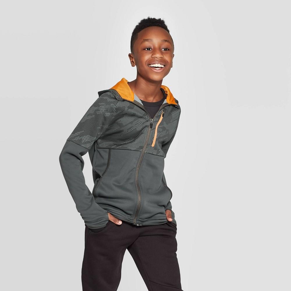 Image of Boys' Premium Tech Fleece Full Zip Hoodie - C9 Champion Gray L, Boy's, Size: Large