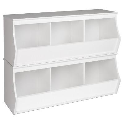 Fremont Entryway Storage Cubbie - 6 Bin - White - Prepac