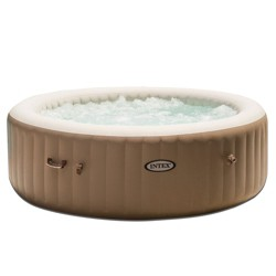 Intex PureSpa 85 Inch 6 Person Inflatable Round Hot Tub Spa with Soothing Jets